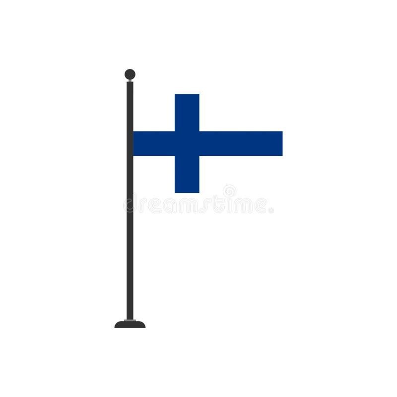 De vlagpictogram 3 van voorraad vectorfinland stock illustratie