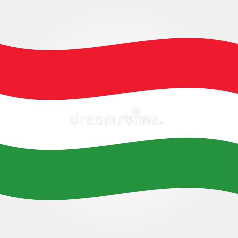De vlagpictogram 2 van voorraad vectorhongarije vector illustratie