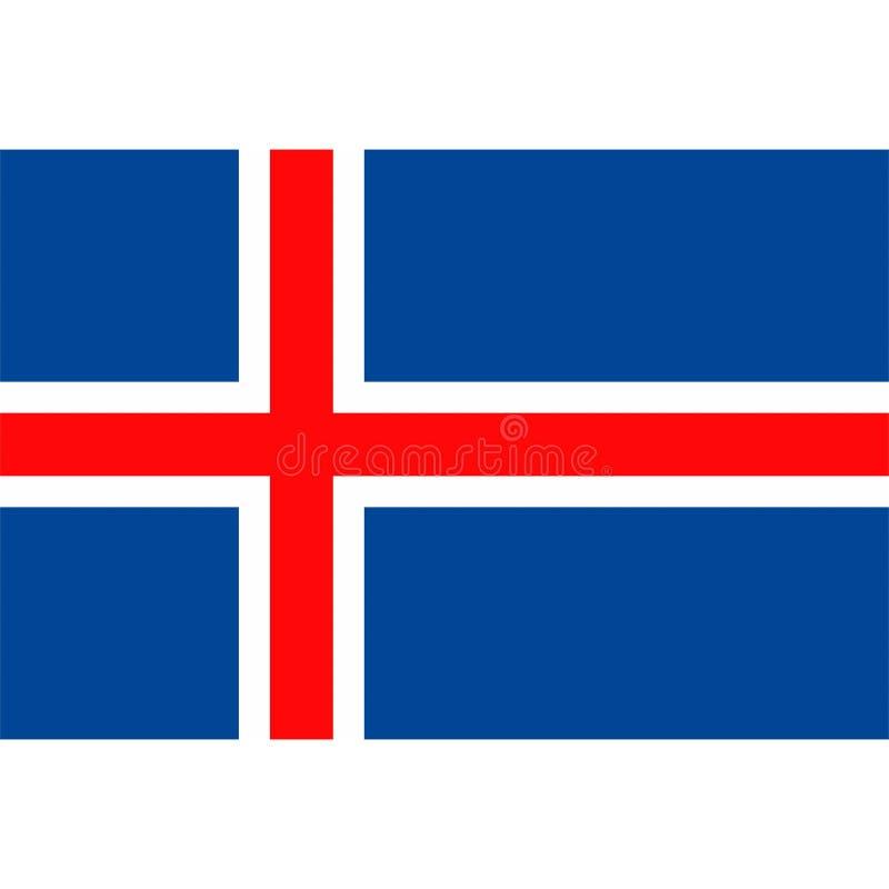 De vlagpictogram 1 van voorraad vectorijsland royalty-vrije illustratie