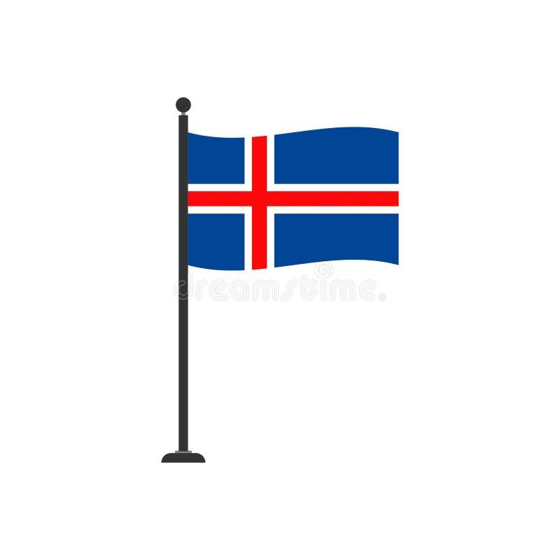 De vlagpictogram 4 van voorraad vectorijsland stock illustratie