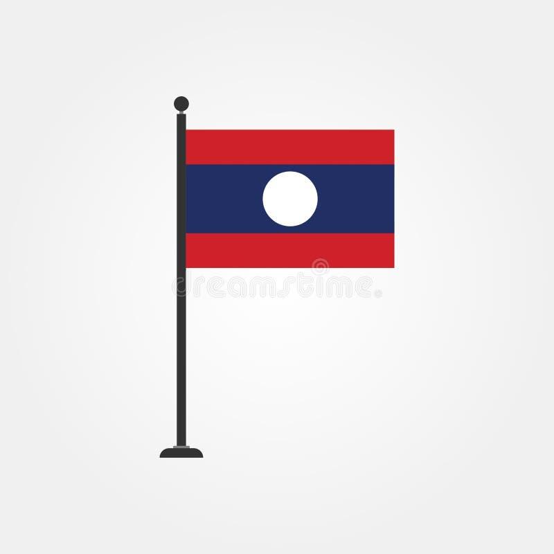 De vlagpictogram 3 van voorraad vectorlaos stock illustratie