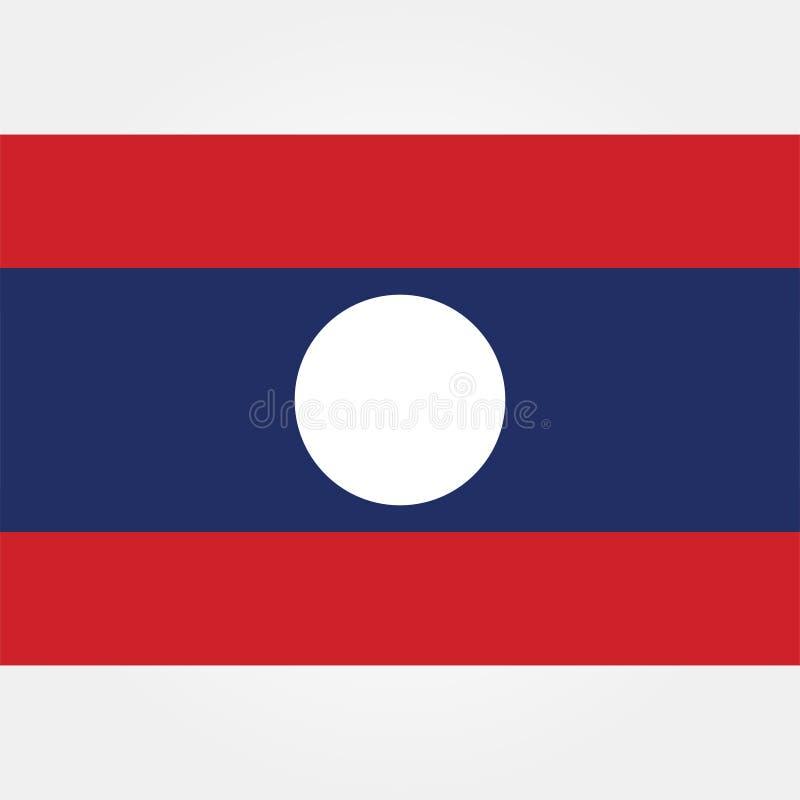 De vlagpictogram 1 van voorraad vectorlaos royalty-vrije illustratie
