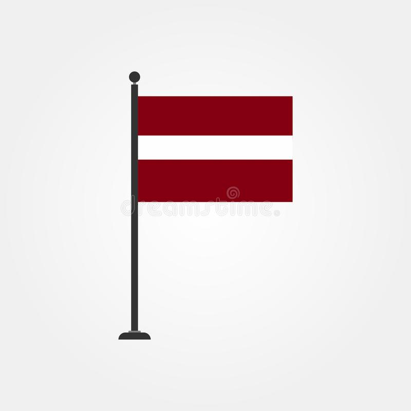 De vlagpictogram 3 van voorraad vectorletland stock illustratie