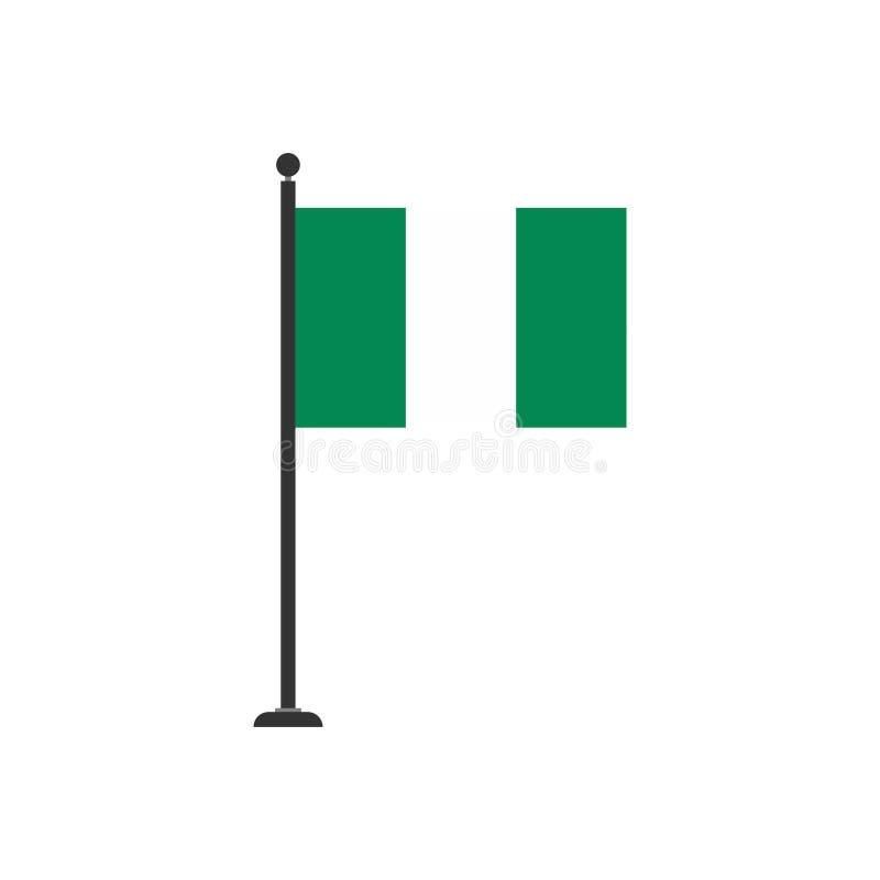 De vlagpictogram 3 van voorraad vectornigeria royalty-vrije illustratie