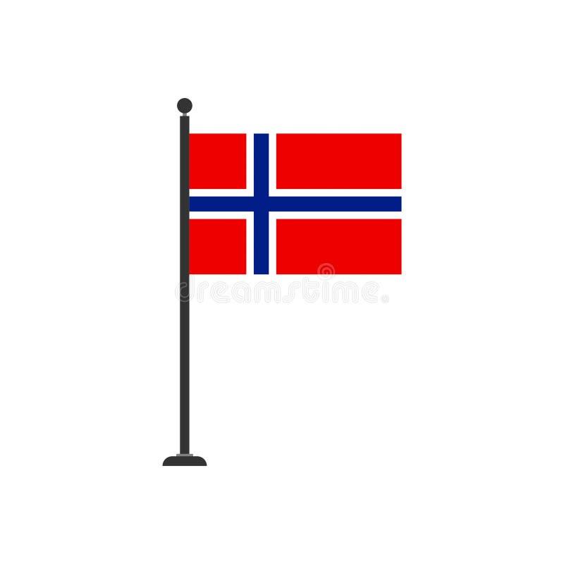De vlagpictogram 3 van voorraad vectornoorwegen royalty-vrije illustratie