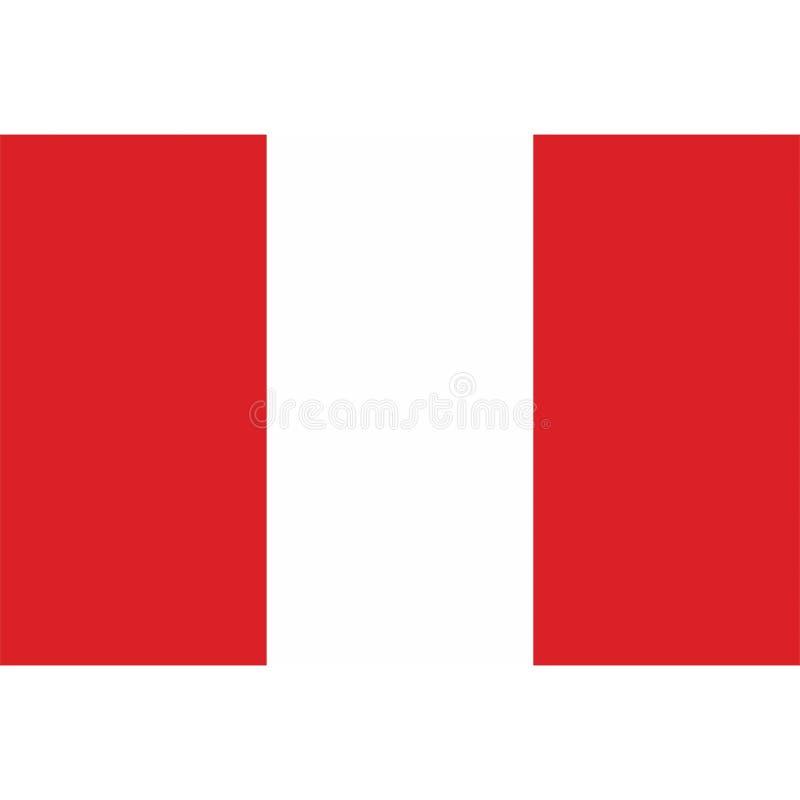 De vlagpictogram 1 van voorraad vectorperu stock illustratie