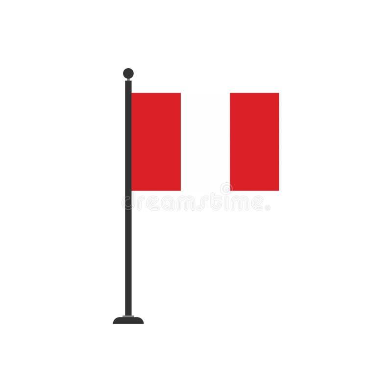 De vlagpictogram 3 van voorraad vectorperu royalty-vrije illustratie