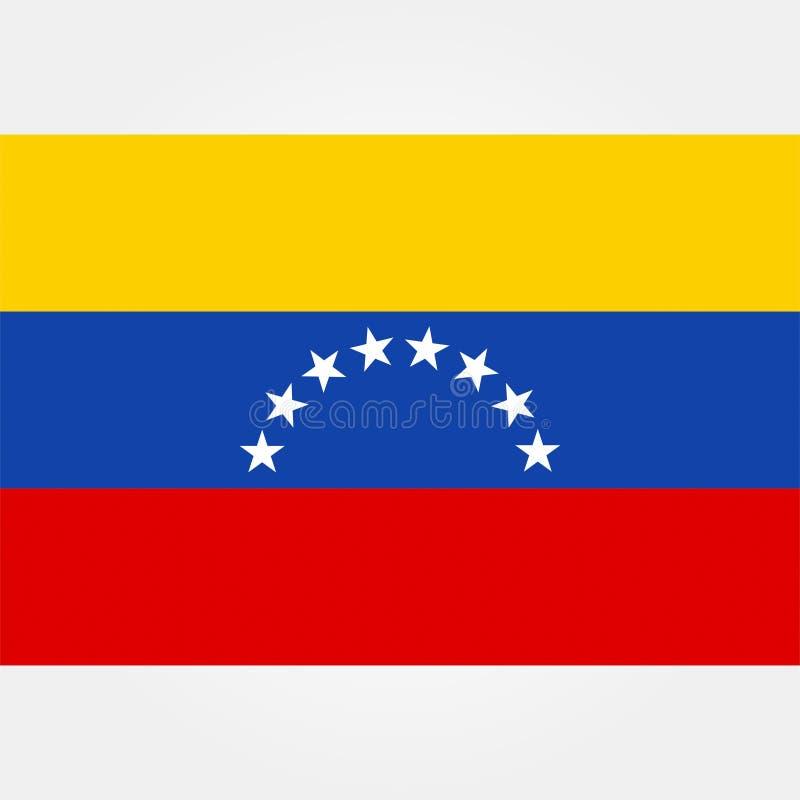 De vlagpictogram 1 van voorraad vectorvenezuela stock illustratie