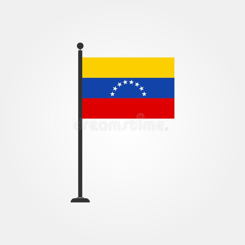 De vlagpictogram 3 van voorraad vectorvenezuela royalty-vrije illustratie