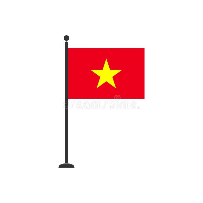 De vlagpictogram 3 van voorraad vectorvietnam royalty-vrije illustratie