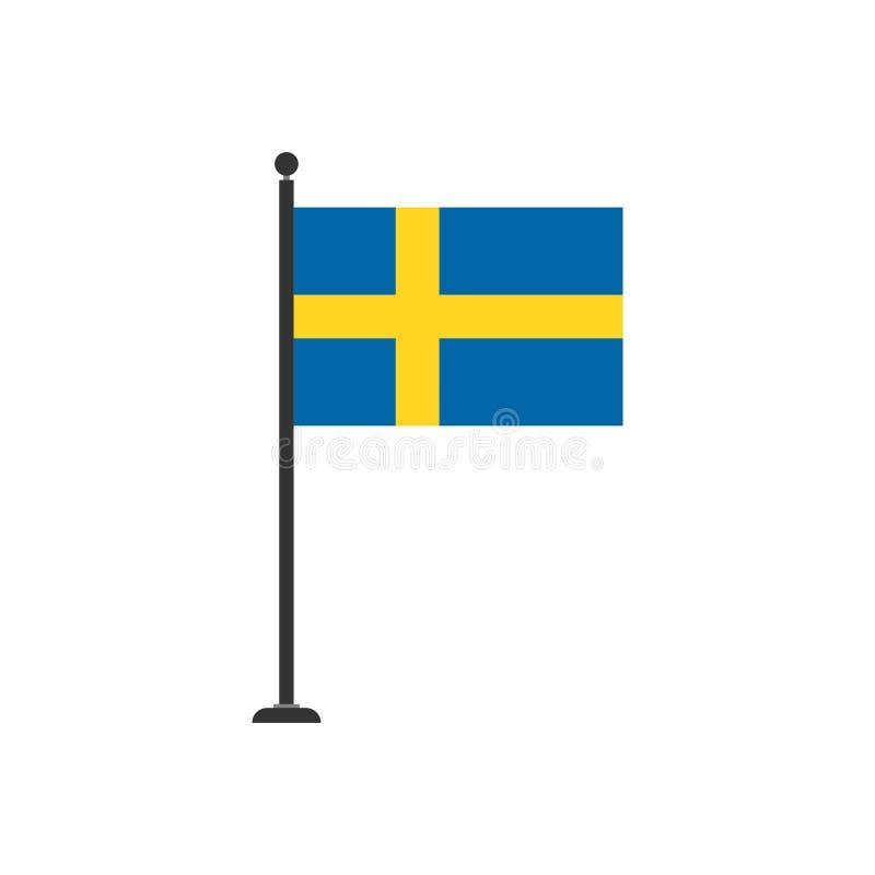 De vlagpictogram 3 van voorraad vectorzweden stock illustratie