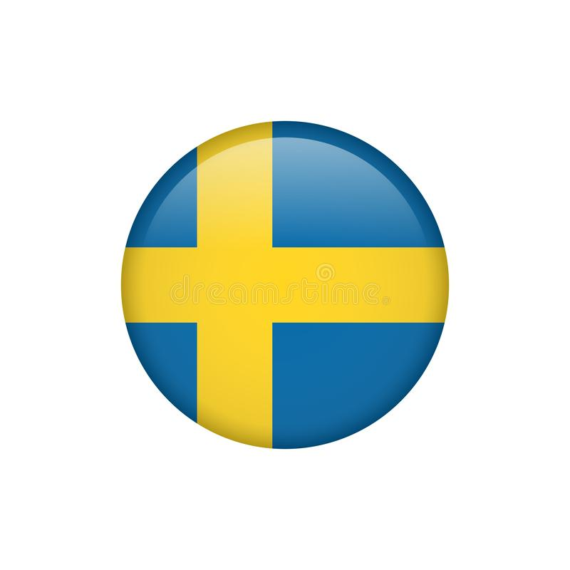 De vlagpictogram 5 van voorraad vectorzweden vector illustratie