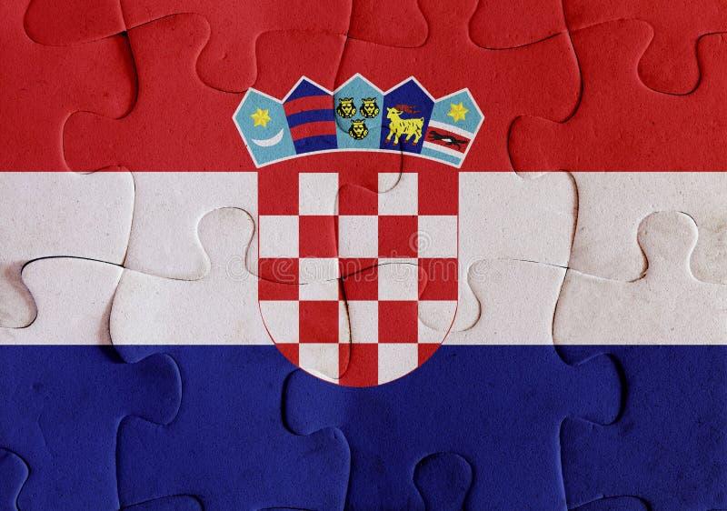 De vlagraadsel van Kroatië vector illustratie