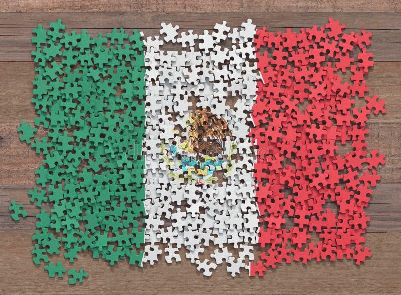 De vlagraadsel van Mexico vector illustratie