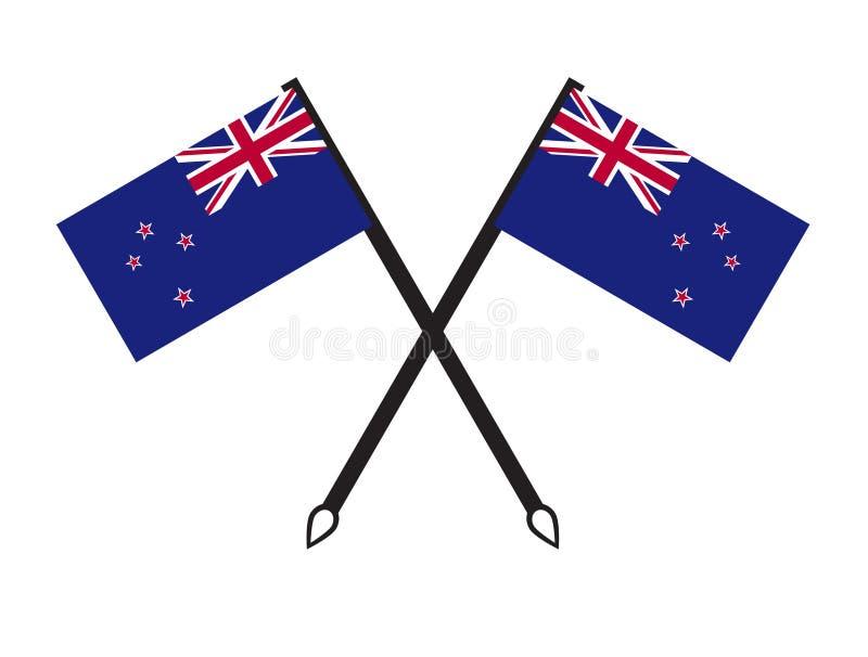 De vlagsymbolen van Nieuw Zeeland vector illustratie