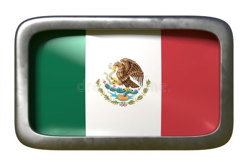 De vlagteken van Mexico stock illustratie
