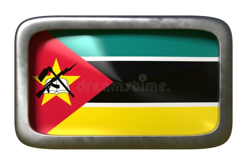 De vlagteken van Mozambique stock illustratie