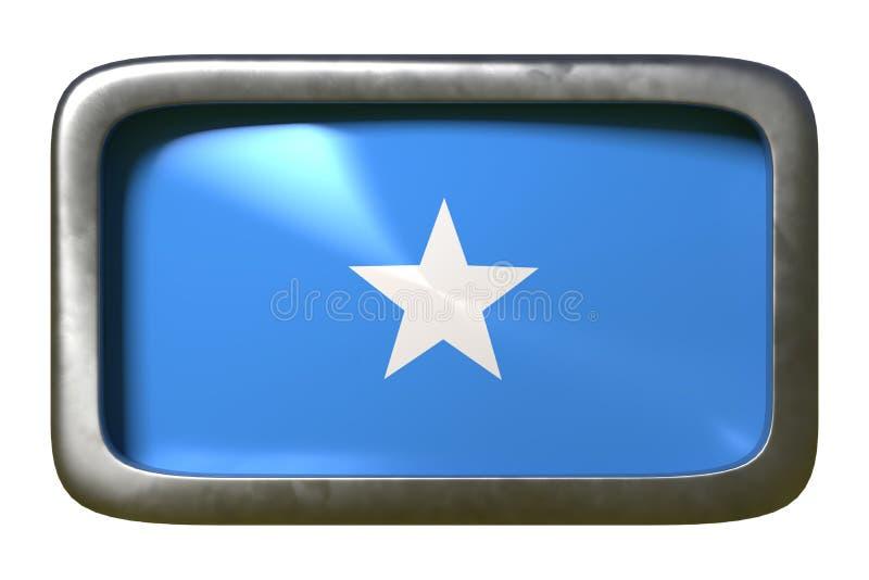 De vlagteken van Somalië vector illustratie