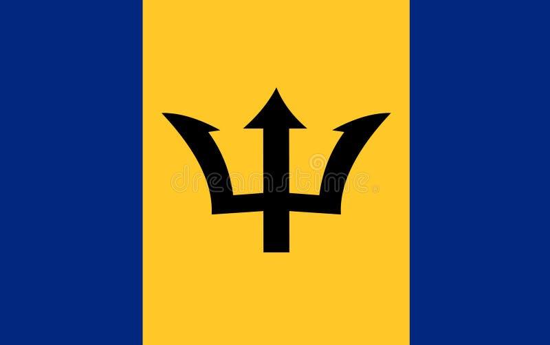 De vlagvector van Barbados Illustratie van de vlag van Barbados vector illustratie