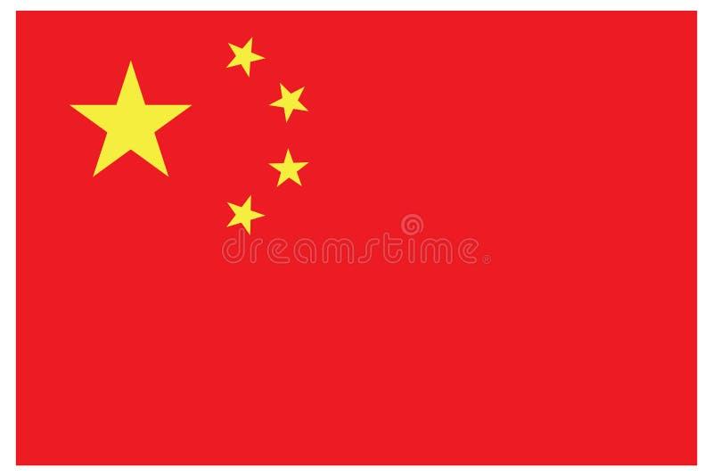De vlagvector van China Chinese vlag vectoreps10 Rode Cniha-vlag vectoreps10 achtergrond vector illustratie