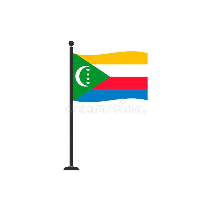 De de vlagvector van de Comoren isoleerde 4 royalty-vrije illustratie
