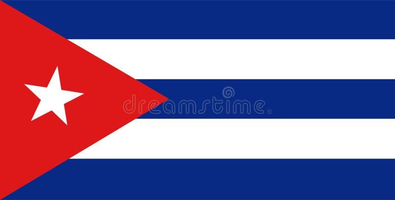 De vlagvector van Cuba Illustratie van de vlag van Cuba royalty-vrije illustratie