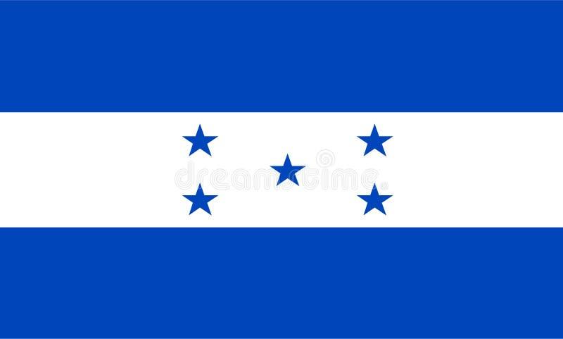 De vlagvector van Honduras Illustratie van de vlag van Honduras vector illustratie