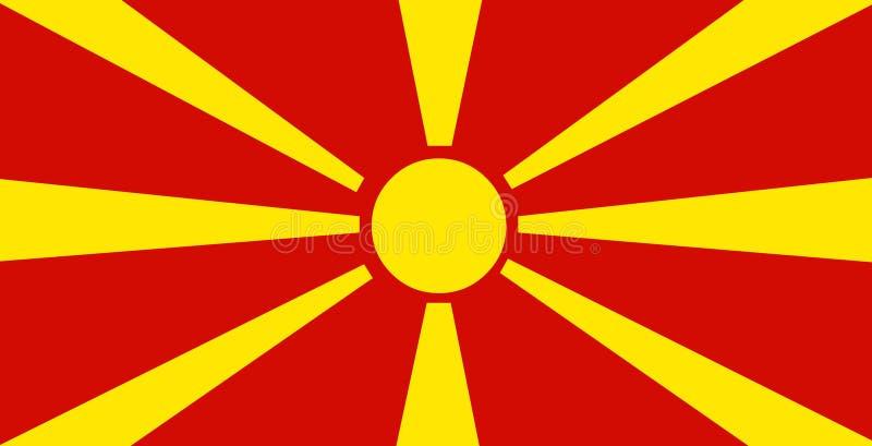 De vlagvector van Macedonië Illustratie van de vlag van Macedonië vector illustratie