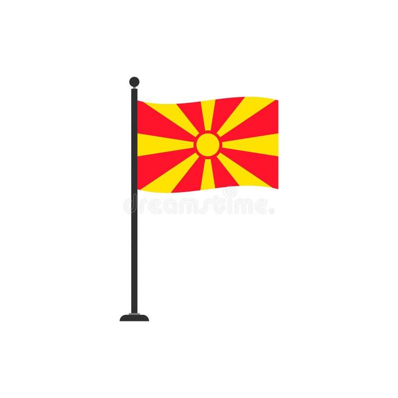 De de vlagvector van Macedonië isoleerde 4 vector illustratie
