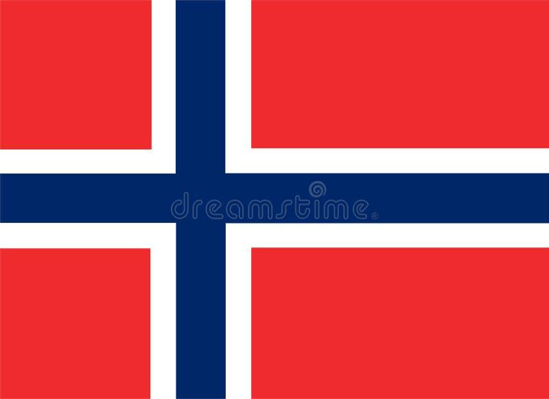 De vlagvector van Noorwegen Illustratie van de vlag van Noorwegen vector illustratie