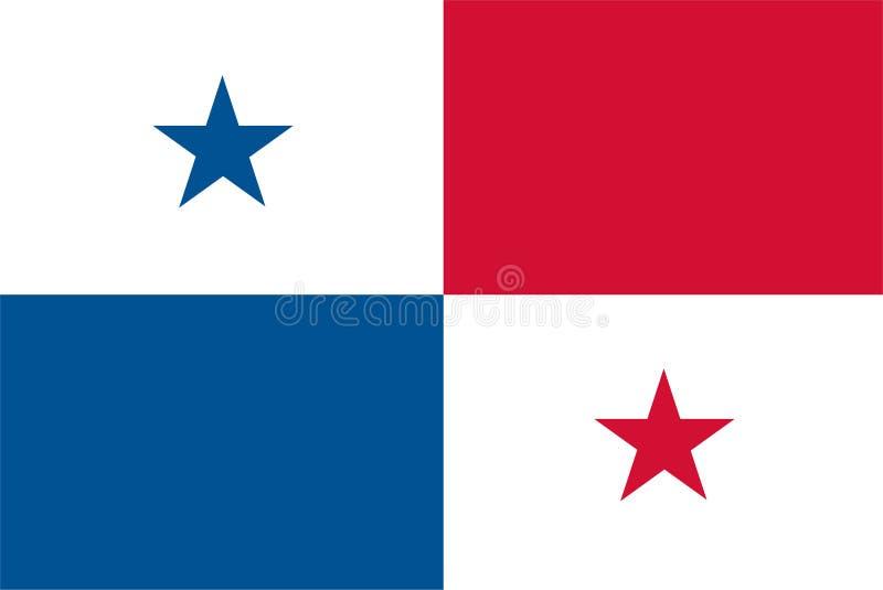 De vlagvector van Panama Illustratie van de vlag van Panama vector illustratie