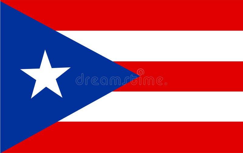 De vlagvector van Puerto Rico Illustratie van de vlag van Puerto Rico stock illustratie