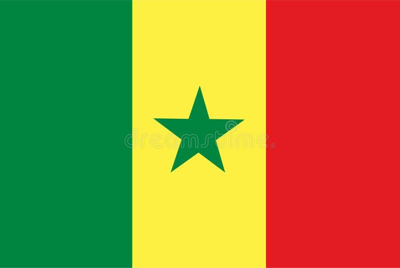 De vlagvector van Senegal Illustratie van de vlag van Senegal stock illustratie