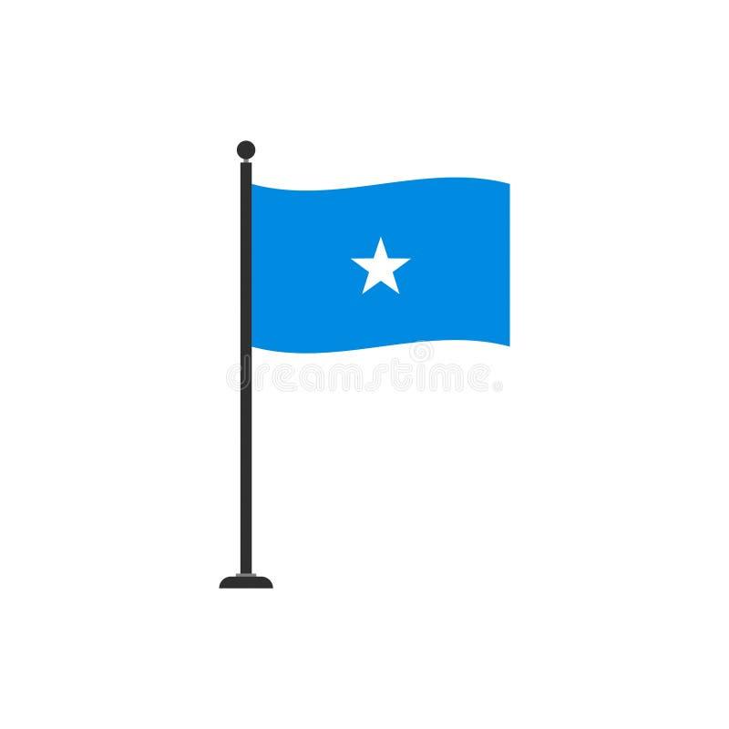 De de vlagvector van Somalië isoleerde 4 stock illustratie