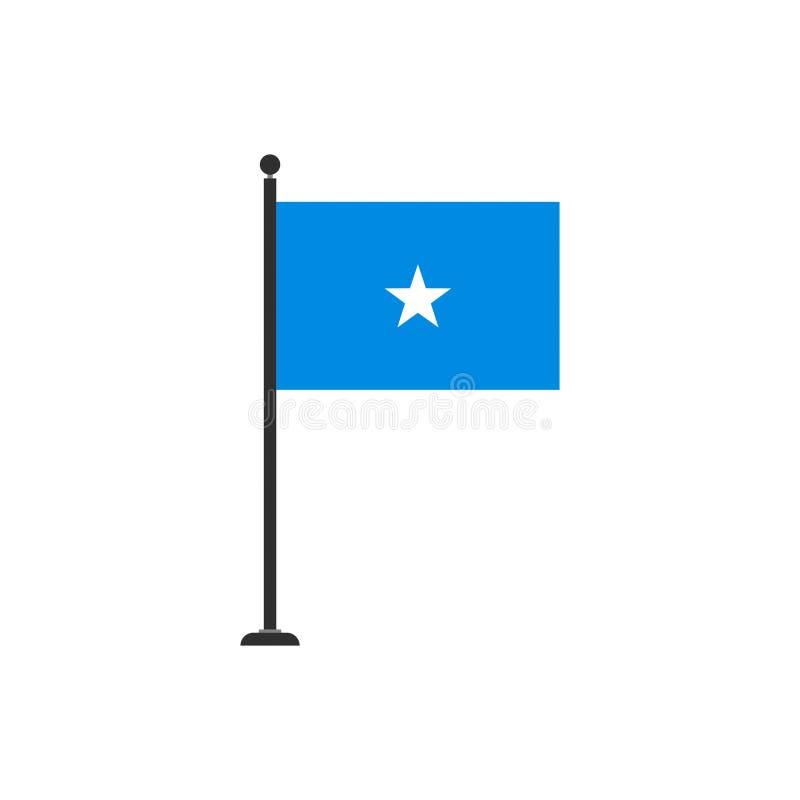 De de vlagvector van Somalië isoleerde 3 royalty-vrije illustratie