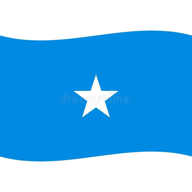 De de vlagvector van Somalië isoleerde 2 royalty-vrije illustratie
