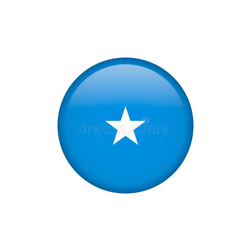 De de vlagvector van Somalië isoleerde 5 vector illustratie