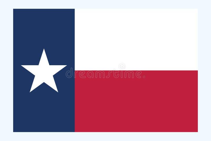 De vlagvector van Texas De vlag van Texas is de tweede - grootste staat van Verenigde Staten vectoreps10 royalty-vrije illustratie