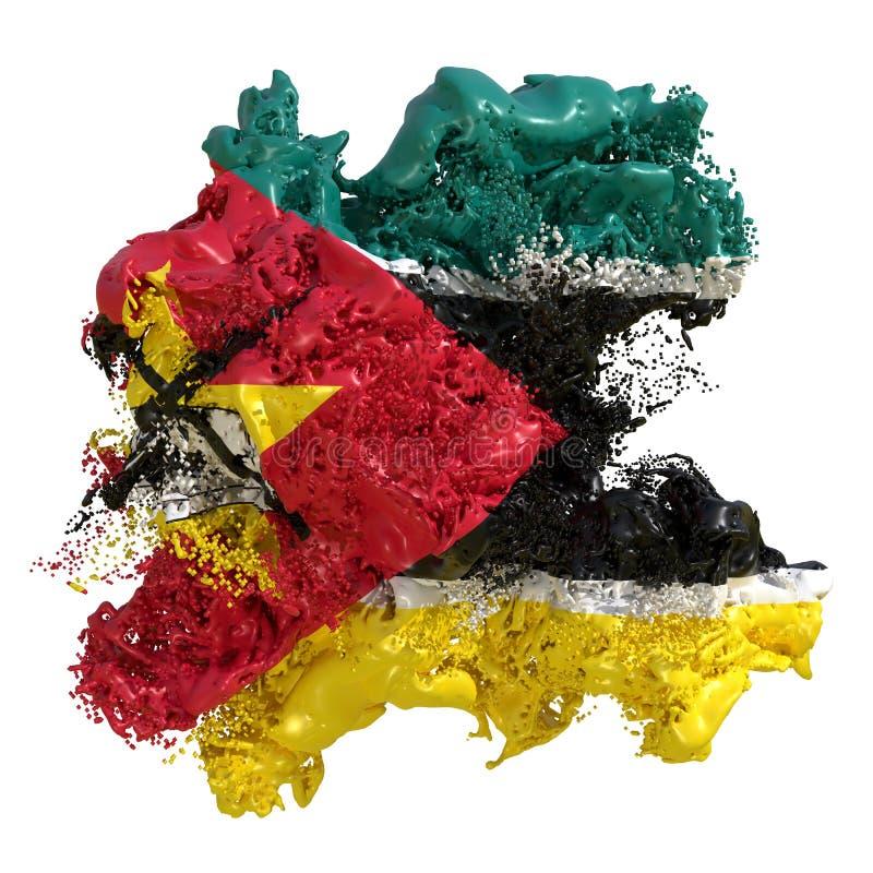 De vlagvloeistof van Mozambique royalty-vrije illustratie
