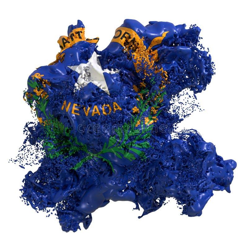 De vlagvloeistof van Nevada stock illustratie