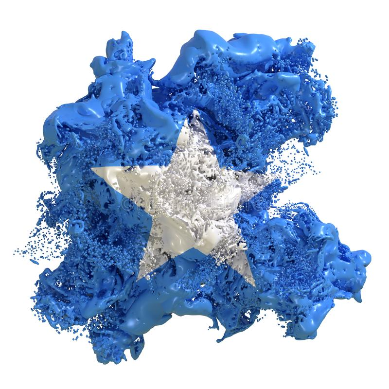 De vlagvloeistof van Somalië royalty-vrije illustratie