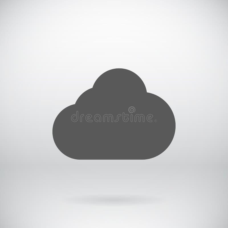 De vlakke Achtergrond van het het Pictogram Vectorsymbool van de Wolkenopslag stock illustratie