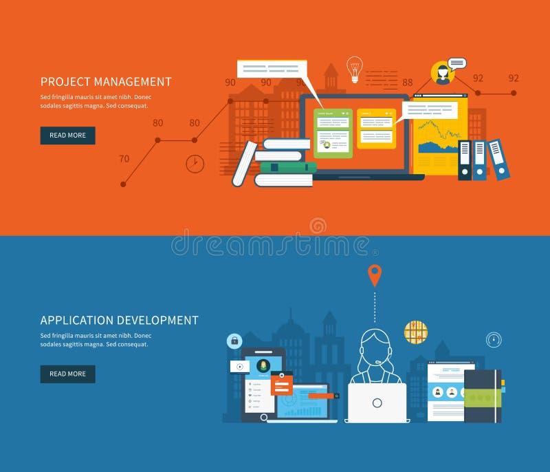 De vlakke concepten van de ontwerpillustratie voor zaken stock illustratie