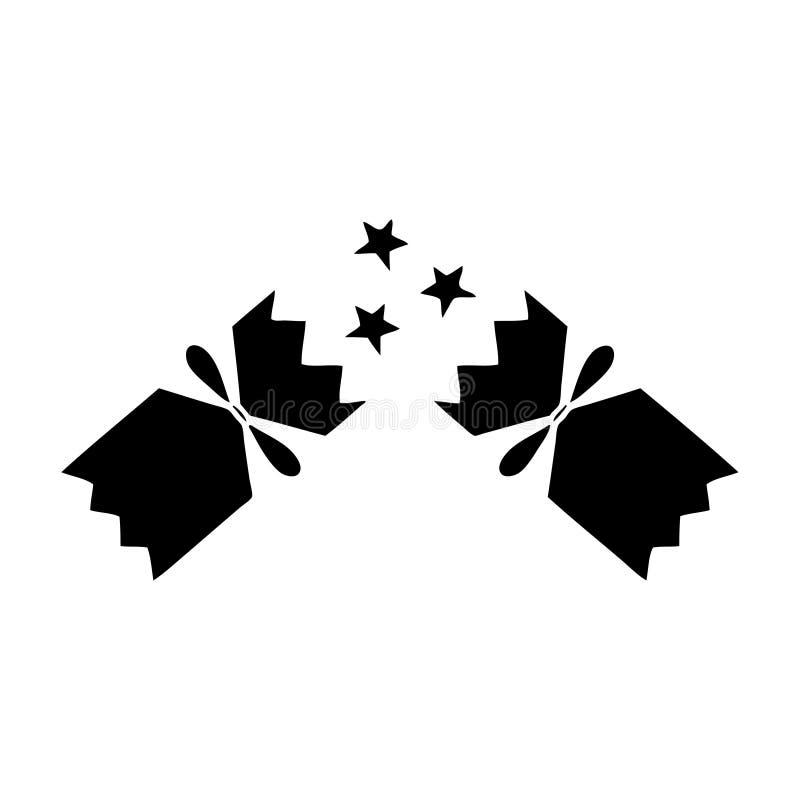 de vlakke cracker van symboolkerstmis stock illustratie