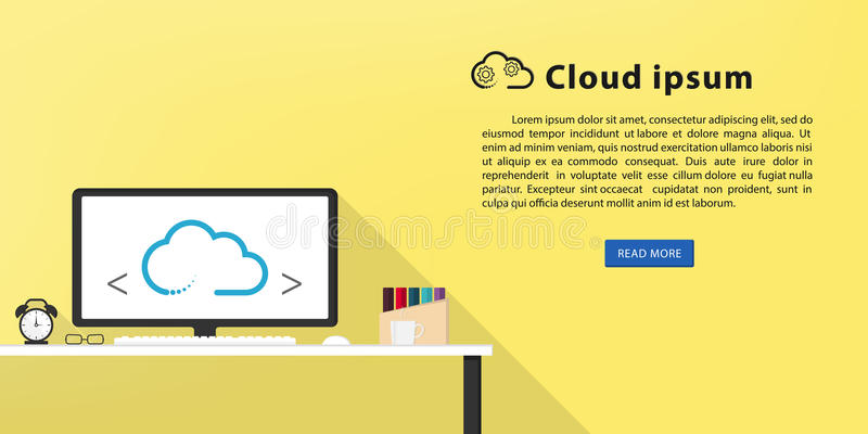 De vlakke creatieve banner van het ontwerpweb royalty-vrije stock foto's