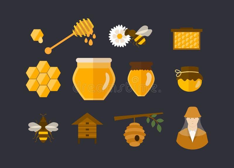 De vlakke illustratie van het ontwerp vectorconcept met pictogrammen royalty-vrije illustratie