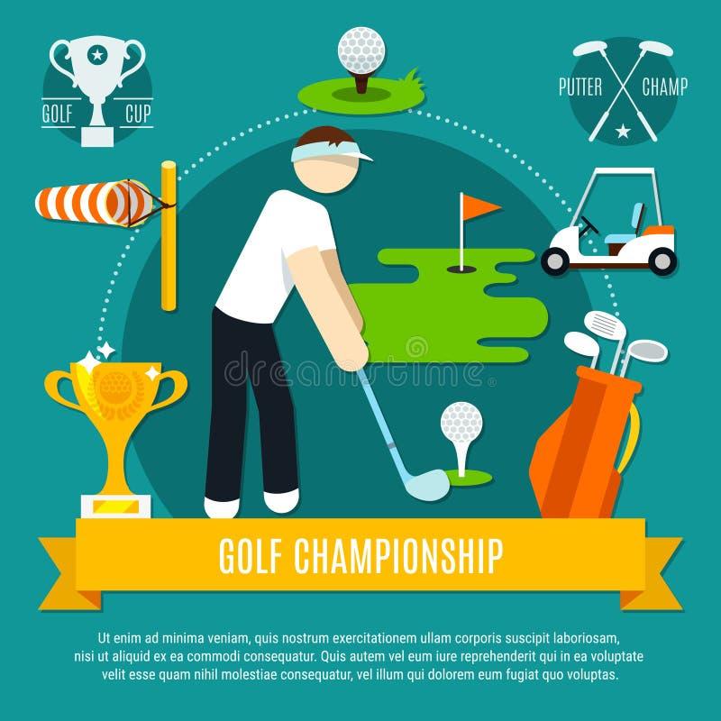 De Vlakke Samenstelling van de golfconcurrentie royalty-vrije illustratie