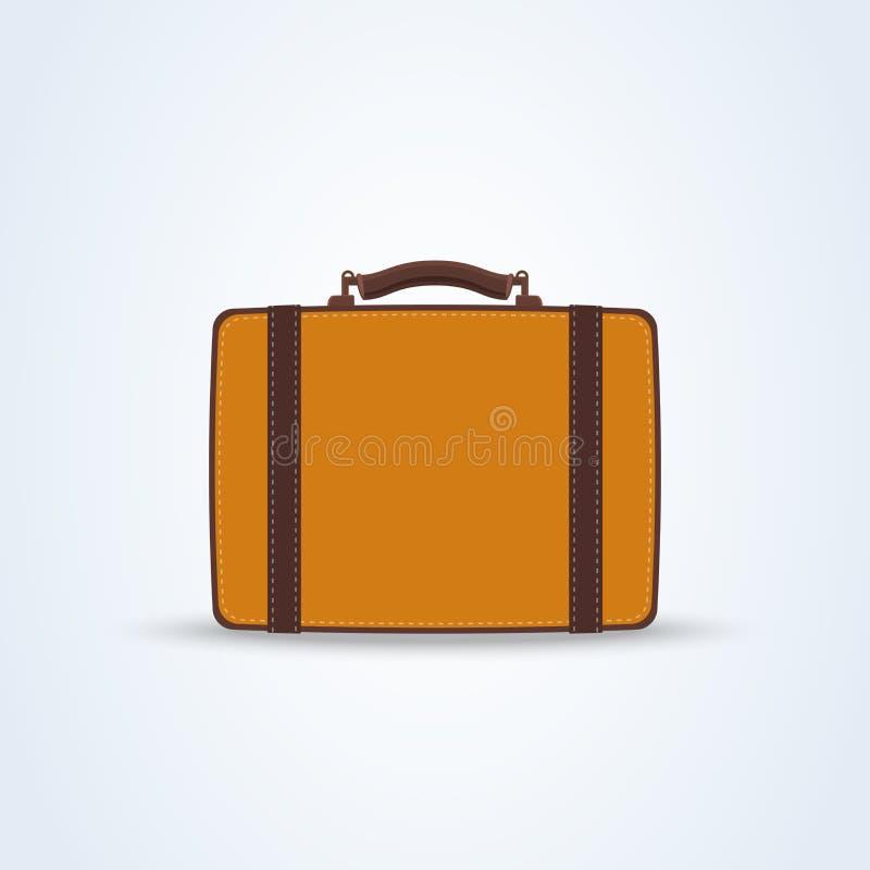 De vlakke stijl van de reiszak Het concept van de reis en van het toerisme illustratorvector vector illustratie