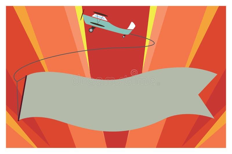 De vlakke van het het malplaatjeexemplaar van de ontwerp Vectorillustratie Lege in het bijzonder ruimtetekst voor Advertentie, be stock illustratie