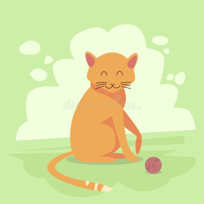 De Vlakke Vector van Cat Wild Animal Jungle Forest royalty-vrije illustratie